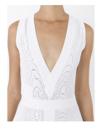 Balmain | White Knitted-jacquard Dress | Lyst