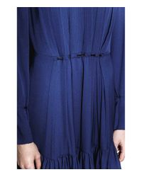 3.1 Phillip Lim - Blue Marine Crepe Pintucked Dress - Lyst