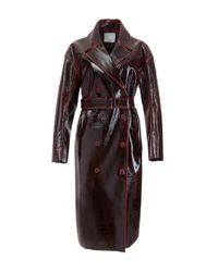 Tibi | Multicolor Rouge Patent Coated Wool Oversized Trench Coat | Lyst