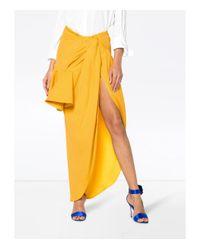 Jacquemus - Yellow Sol Asymmetric Ruffled Skirt - Lyst