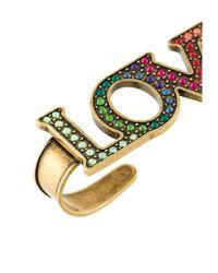Gucci - Metallic Multicolor Loved Palm Cuff - Lyst