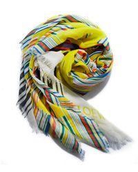 Loewe Yellow Multicolor Stripe Scarf