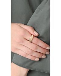 Adina Reyter - Metallic Stretched Hexagon Signet Ring - Lyst