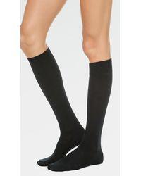 Falke - Black Soft Merino Knee High Socks - Lyst