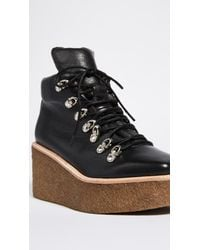 Jeffrey Campbell - Black Viajar Wedge Hiker Booties - Lyst
