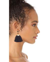 Shashi - Blue Mia Fan Tassel Earrings - Lyst