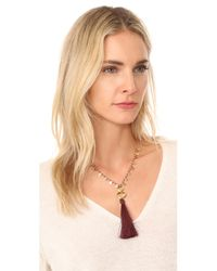 Gorjana - Multicolor Leucadia Beaded Tassel Necklace - Lyst