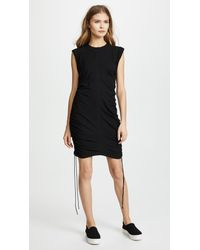 409a13e35b3 T By Alexander Wang High Twist Jersey Mini Dress With Side Ties in ...
