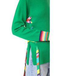 MIRA MIKATI - Green Ribbon And Eyelet Turtleneck - Lyst