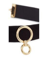 Rebecca Minkoff | Metallic Velvet Ring Choker Necklace | Lyst
