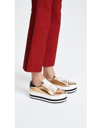 Marc Jacobs - Metallic Grand Platform Sneakers - Lyst