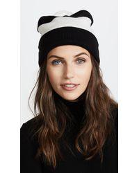 Kate Spade - Black Stripe Beanie - Lyst