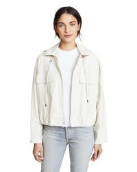 Theory - Multicolor Cropped Leather Anorak - Lyst