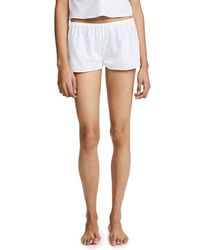 Les Girls, Les Boys - White Woven Cotton Shorts - Lyst