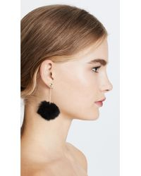 Kate Spade | Black Bow Pouf Earrings | Lyst