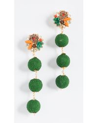 Mercedes Salazar - Green Noble Grapes Clip On Earrings - Lyst