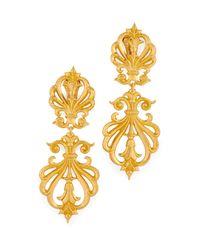 Ben-Amun - Metallic Clip On Statement Earrings - Lyst