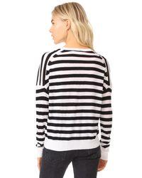 Rag & Bone - Black Bevan V Neck Sweater - Lyst