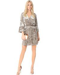L'Agence - Multicolor Riley Wrap Dress - Lyst