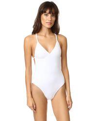 Norma Kamali - White Slip Mio Swimsuit - Lyst