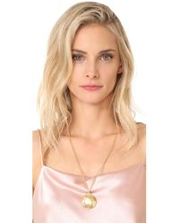 Ben-Amun | Metallic Simple Gold Locket Necklace | Lyst