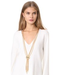 Rosantica - Metallic Chain Lariat Necklace - Lyst