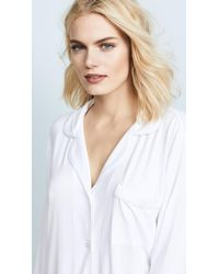 Eberjey - White Gisele Two-piece Long Sleeve & Pant Pajama Sleepwear Set - Lyst