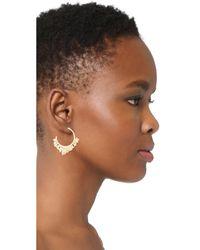 Alexis Bittar - Metallic Crystal Encrusted Pleated Hoop Earrings - Lyst