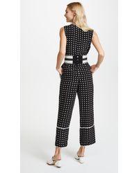 Diane von Furstenberg - Black Sleeveless Cinched Waist Jumpsuit - Lyst