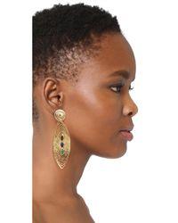 Gas Bijoux - Multicolor Long Wave Earrings - Lyst