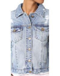 EVIDNT - Blue Frayed Denim Jacket - Lyst