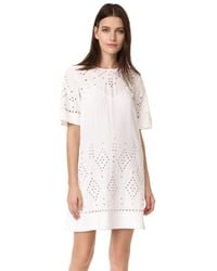Theory | White Idetteah Dress | Lyst