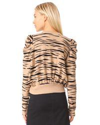 Free People - Brown Zaza Zebra Pullover Top - Lyst