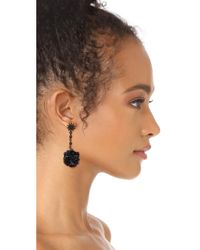Lulu Frost - Black Rose Earrings - Lyst