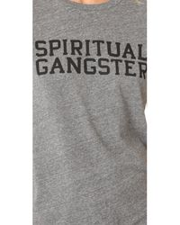 Spiritual Gangster - Gray Sg Varsity Tee - Lyst
