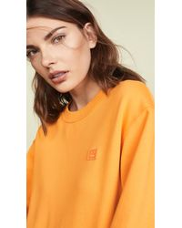 Acne - Orange Fairview Face Sweatshirt - Lyst