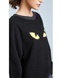 Wildfox | Black Cat Sweatshirt | Lyst