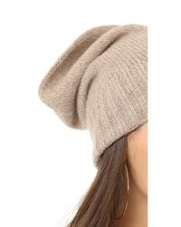Hat Attack | Multicolor Slouchy Cashmere Hat | Lyst