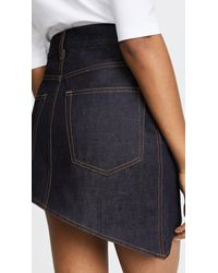 Helmut Lang - Blue Asymmetric 5 Pocket Skirt - Lyst