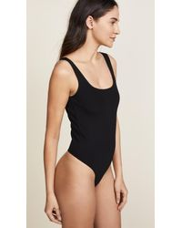 Getting Back to Square One - Black Square Neck Thong Bodysuit - Lyst