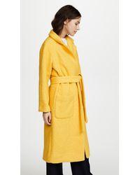 Ganni - Yellow Fenn Coat - Lyst