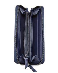 Tumi - Blue Zip Around Continental Wallet - Lyst