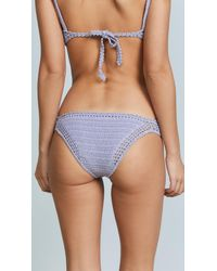 She Made Me - Blue Essential Cotton Crochet Cheeky Bottoms - Lyst
