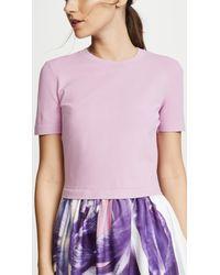 Ferragamo - Purple Flower Photo Print Dress - Lyst