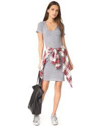 Lanston - Gray Ruched T-shirt Dress - Lyst
