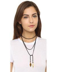 Vanessa Mooney - Black Charm Wrap Necklace - Lyst