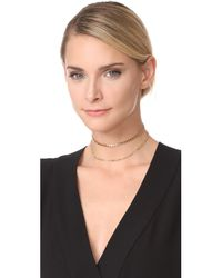 Jennifer Zeuner | Metallic Amanda Double Chain Choker Necklace | Lyst