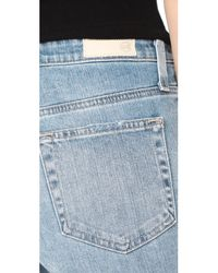 AG Jeans - Blue The Isabelle Straight Crop Jeans - Lyst
