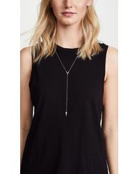 Rebecca Minkoff - Metallic Crystal Cone Y Necklace - Lyst