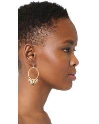 Alexis Bittar | Metallic Arrayed Stone Cluster Wire Earrings | Lyst
